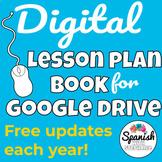 Digital Lesson Plan Book (for Google Drive!)