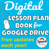 Digital Lesson Plan Book (for Google Drive!)
