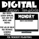 Digital Lesson Plan FREEBIE for Microsoft