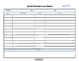 Digital Lesson Plan Scheduler Form ~ Include Modifications