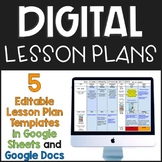 Digital Lesson Plan Templates