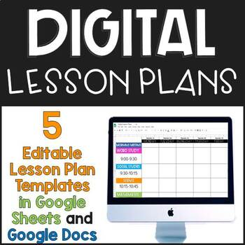 Digital Lesson Plan Templates By Teaching Lessons Room 227 TpT