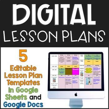 Digital Lesson Plan Templates