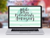 Digital Teacher Planner Organizer For Google Drive-Waterco