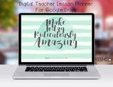 Digital Teacher Planner Organizer For Google Drive-Waterco