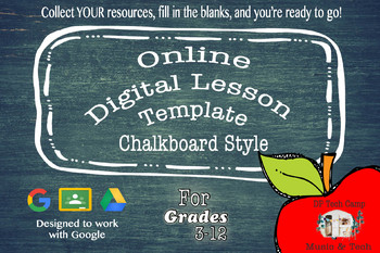 Digital Lesson Template - Chalkboard Style