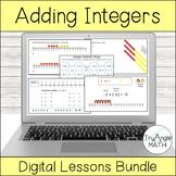 Adding Integers Digital Lessons Bundle