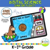 Digital Let's Learn Opposites: Sink or Float Science