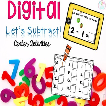 Digital Let's Subtract! Center Activties