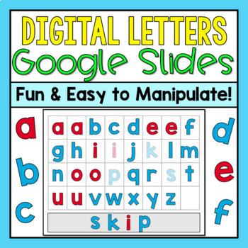 Digital Letter Boards for Google Slides (Distance Learning)