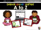 Digital Letter Games A to Z Bundle