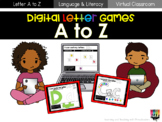 Digital Letter Games A to Z Bundle
