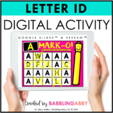 Digital Letter Identification Activity for Google Classroo