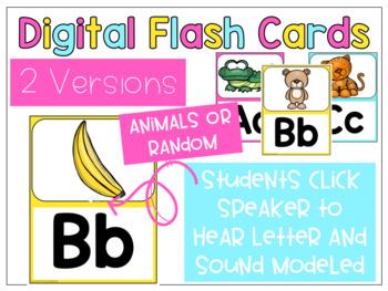 Digital Letter/Sound Flash Cards