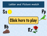 Digital Letter and Picture match Game   Digital interactiv