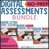 Digital Letters   Sounds   Sight Words   Math Assessment Bundle