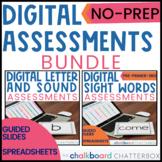 Digital Letters | Sounds | Sight Words Assessment | Bundle