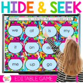 Digital Letters and Sight Word Game Hide and Seek  | Dista