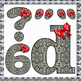 Digital Letters, numbers and symbols are designed to decorate the classroom