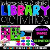 Digital Library Activities Growing Bundle [Digital]