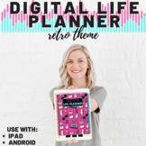 Digital Life Planner | Retro Theme 2020-2021 | Use on iPad, tablet