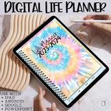 Digital Life Planner | Tie Dye | 2021-2022 | iPad, Tablet,