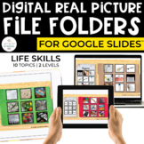 Digital Life Skills File Folders for Special Ed (REAL PICT