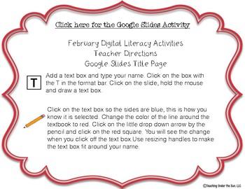 Digital Literacy Activities, February Theme, Google, Digital Learning