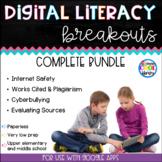 Digital Literacy Breakouts Bundle