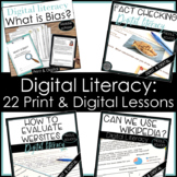 Digital Literacy Bundle Find Bias Evaluate Websites Fact Check Wikipedia