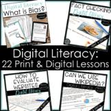 Digital Literacy Bundle Find Bias Evaluate Websites Fact Check Wikipedia