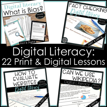 Digital Literacy Resources for Bias, Evaluate Websites, Fa