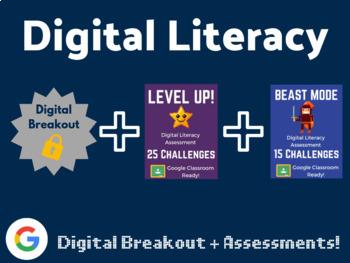 Digital Literacy Bundle (Digital Breakout, Assessments)