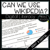 Digital Literacy How Wikipedia Works Research Activities P