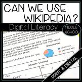 Digital Literacy How Wikipedia Works