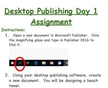 Digital Literacy - Desktop Publishing Day 1