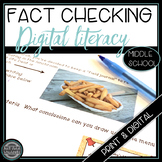 Fact Checking Digital Literacy Activities Print and Digital
