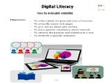Digital Literacy: How to evaluate websites