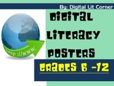 Digital Literacy (Citizenship) Posters Grades 6 - 12