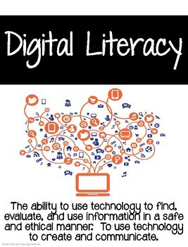 Digital Literacy Posters and Student Self Assessment Pages