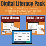 Digital Literacy Grade 6-10 Word Search & Crossword Pair P
