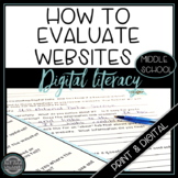 Digital Literacy - How to Evaluate Digital Data {Middle School}
