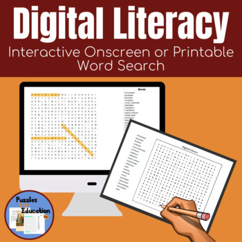 Digital Literacy Grade 6-10 Word Search