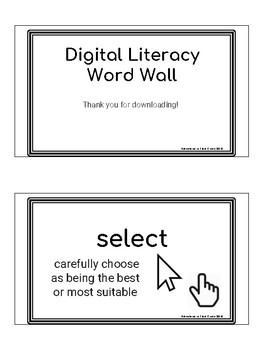 Digital Literacy Word Wall