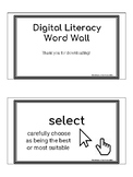 Digital Literacy Word Wall