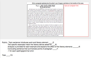 Digital Literary Analysis Paragraph Writing Prompts