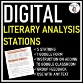 Digital Literary Analysis Stations for ANY Fiction Text