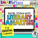 Digital Literary Analysis with Sticky Notes for Distance Learning