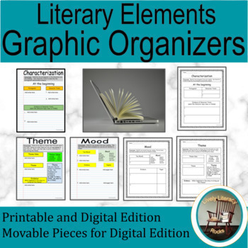 Digital Literary Elements Interactive Notebook for Google Drive