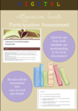 Digital Literature Circle Participation Assessment for ANY Text